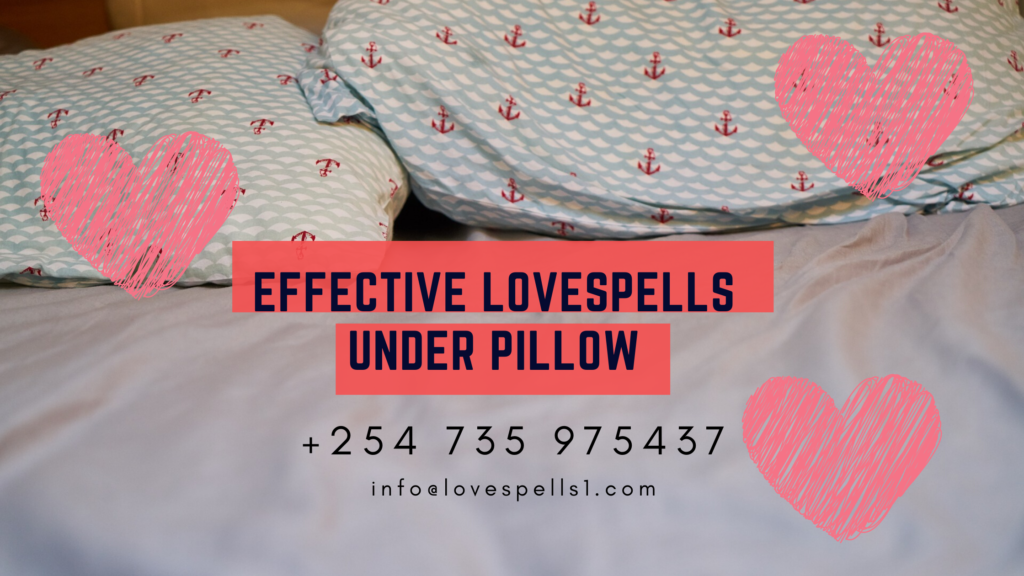 effective picture under pillow love spell